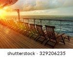 Постер, плакат: Cruise Ship Wooden Deck