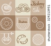 vector bakery logos  and icons... | Shutterstock .eps vector #329213951