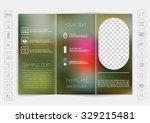 tri fold brochure mock up...   Shutterstock .eps vector #329215481