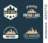 retro vintage insignias set ... | Shutterstock .eps vector #329227715