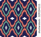 seamless pattern design in ikat ... | Shutterstock . vector #329234111