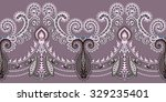 wide seamless border with dark... | Shutterstock .eps vector #329235401