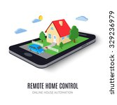 remote home control concept... | Shutterstock .eps vector #329236979