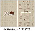 restaurant menu design | Shutterstock .eps vector #329239721