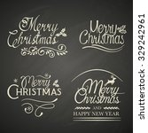 christmas lettering with... | Shutterstock .eps vector #329242961