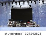 stage equipment for a concert | Shutterstock . vector #329243825