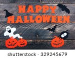 halloween holiday background on ... | Shutterstock . vector #329245679
