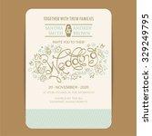 beautiful wedding invitation... | Shutterstock .eps vector #329249795