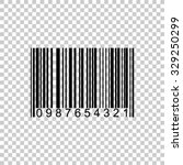 barcode vector icon   black... | Shutterstock .eps vector #329250299