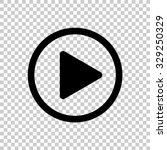 play button vector icon   black ... | Shutterstock .eps vector #329250329
