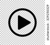 Play Button Vector Icon   Blac...