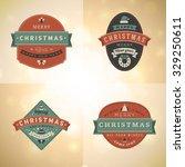 set of retro vintage... | Shutterstock .eps vector #329250611