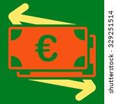 euro money transfer vector icon.... | Shutterstock .eps vector #329251514
