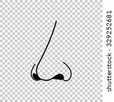 nose vector icon   black... | Shutterstock .eps vector #329252681