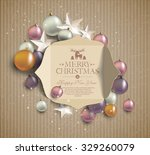 merry christmas  background of... | Shutterstock .eps vector #329260079
