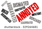 annoyed word cloud on a white... | Shutterstock .eps vector #329264681