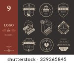 set of logos rock music and... | Shutterstock .eps vector #329265845