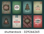 "vintage poster set "" merry... | Shutterstock .eps vector #329266265"