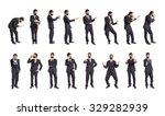 set of businessman over white... | Shutterstock . vector #329282939