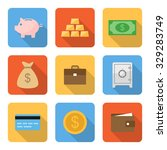 flat money icons with long... | Shutterstock .eps vector #329283749
