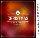 christmas card design   elegant ... | Shutterstock .eps vector #329287295