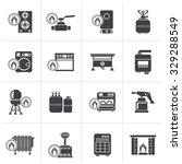 black household gas appliances...   Shutterstock .eps vector #329288549
