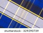 Scottish Tartan Pattern. Blue...