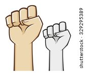hand clenched fist symbol in...   Shutterstock .eps vector #329295389