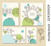 vector set  floral backgrounds. ... | Shutterstock .eps vector #329295929