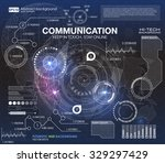hud background outer space.... | Shutterstock .eps vector #329297429