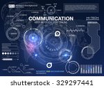 hud background outer space.... | Shutterstock .eps vector #329297441