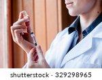 syringe and ampule  bottle ... | Shutterstock . vector #329298965