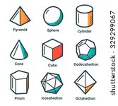 collection of geometrical... | Shutterstock .eps vector #329299067