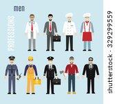 Vector Set Of Men Of Different...