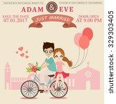 illustration of lovely sweet... | Shutterstock .eps vector #329303405