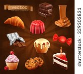 confectionery  vector set 3 | Shutterstock .eps vector #329303831