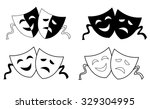 happy and sad theater masks  ... | Shutterstock . vector #329304995