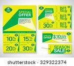 sale flyer  promotions coupon... | Shutterstock .eps vector #329322374