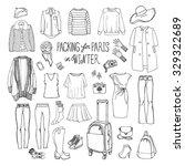 vector illustration of packing...   Shutterstock .eps vector #329322689