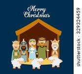 christmas manger characters... | Shutterstock .eps vector #329324459