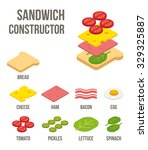 isometric sandwich ingredients  ... | Shutterstock .eps vector #329325887
