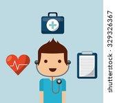 healthcare concept design ... | Shutterstock .eps vector #329326367