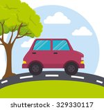 transport  delivery and... | Shutterstock .eps vector #329330117