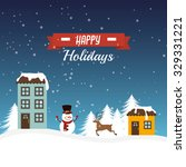 merry christmas colorful card... | Shutterstock .eps vector #329331221