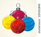 merry christmas card design ... | Shutterstock .eps vector #329331845