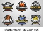 Set Of Sports Logos Baseball ...
