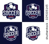 soccer logos  american logo... | Shutterstock .eps vector #329335145