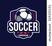 soccer logo  american logo sport | Shutterstock .eps vector #329335151