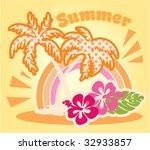 summer beach vector graphic | Shutterstock .eps vector #32933857