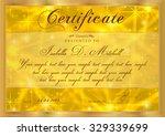 certificate  diploma of... | Shutterstock .eps vector #329339699